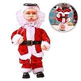 Weihnachtsmann Tanzte Nikolaus Figur Plüschpuppe Weihnachtlicher Zierschmuck Stehend...