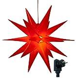 3D Leuchtstern inkl. warm-weißer LED Beleuchtung | für Innen und Außen geeignet |...