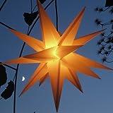 Mit LED-Leuchtmittel (auswechselbar) Außenstern Adventsstern gelb - beleuchteter...