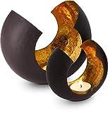 ROMINOX Geschenkartikel Teelichthalter//Sakrale mit Goldfolienauskleidung,...