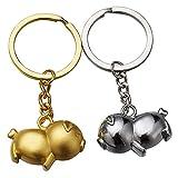 Seupeak 1 Pair Tierkreis Schmuck Schwein Hängen Keychain Ornamente Charms Anhänger...