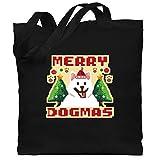 Shirtracer Weihnachten Kind - Merry Dogmas - Pixel art - bunt - Unisize - Schwarz -...