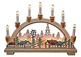 Schwibbogen Lichterbogen  'Winterdorf' 10flammig innenbeleuchtet farbig Weihnachten...