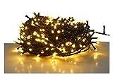 LED Lichterkette mit 120 LEDs - warmweiß - für den Innen- und Außenbereich (12 m -...