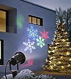 LED Strahler bewegte Schneeflocken Lichtprojektor Wandstrahler Outdoor Beleuchtung...