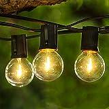 Albrillo Lichterkette Glühbirnen LED Außen - 16M Lichterkette Outdoor mit 50 G40...