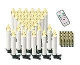 Aufun 30 Stück LED Weihnachtskerze Warmweiß Weinachten, Mini Kabellose...