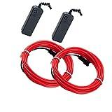 Mixtooltoys Flexibel 2 Stück rot 16.5FT 5 m Neon Beleuchtung Draht Lichtschlauch...