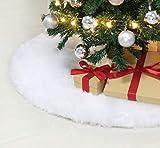 Weiß Plüsch Weihnachtsbaum Rock 47zoll/120cm Weihnachtsbaum decke...