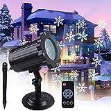LED Projektionslampe,VIFLYKOO Schneeflocke Projektionslampe Schneefall-Lichteffekt...