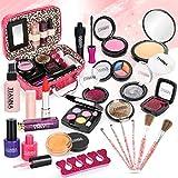 Dreamon Kinderschminke Mädchen, 24PCS Waschbar Makeup Spielzeug mit Schminkkoffer,...