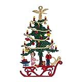 Zinngeschenke Tannenbaum beidseitig von Hand bemalt aus Zinn (HxB) 8,0 x 4,8 cm, als...