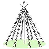 LED-Weihnachtsbaum 250 cm mit Stern beleuchtet mit 820 Micro-LED warmweiß für den...
