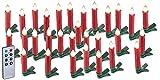 Lunartec LED Christbaumkerzen: 30er-Set LED-Weihnachtsbaum-Kerzen mit...