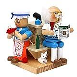 Wichtelstube-Kollektion Holz Räuchermännchen Oma & Opa