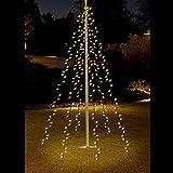 Lichterkette 400 LEDs Warmweiß 8m für Fahnenmast Baum Außenbeleuchtung Kegel...