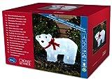 Konstsmide 6124-203 LED Acryl Eisbär stehend mit roter Schleife und 40 kalt weißen...