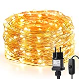 LE 10M LED Lichterkette Draht aus Kupferdraht, 100 LEDs, Wasserdicht IP65,...