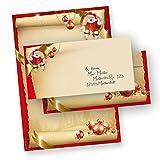 Briefpapier Frohe Weihnachten Set Santa Claus (25 Sets ohne Fenster) DIN A4 297 x...