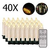 20/30/40/50/60 stk LED Kerzen LED Lichterkette Kabellos Dimmbar Kerzenlichter...