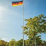 Fahnenmast STAHL 575 cm | Flaggenmast | Zylindrische Form | mit Bodenhülse | Ø 42...