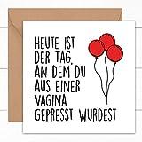 Lustige Geburtstagskarte | Spaß Geschenk für Freund Freundin beste Freundin ihn und...