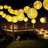 BrizLabs Solar Lichterkette Lampions Außen 6M 30 LED Laternen Lichterkette Aussen...