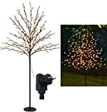 Bonetti LED Lichterbaum mit 200 warm-weißen Lichtern beleuchtet, 150 cm hoch, die...