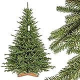 FairyTrees Weihnachtsbaum künstlich BAYERISCHE Tanne Premium, Material Mix aus...