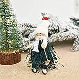 Kslogin Weihnachts-Anhänger aus Holz, Eichel, Ski-Engel, Puppe, niedlicher...