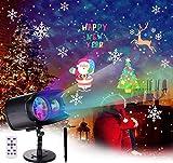 BACKTURE Weihnachten Projektor, LED Projektor Lampe mit Fernbedienung LED LED...