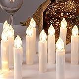CCLIFE TÜV GS LED Weihnachtskerzen Kabellos RGB Kerzen Bunt Weihnachtsbaumkerzen...