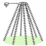Baum-Lichterkette 800 Micro-LED Drahtketten mit Ring zum einfachen Aufhängen innen...