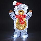 Deuba LED Acryl Figur Weihnachtsdeko Beleuchtung Weihnachten Teddy stehend Indoor...