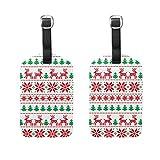 Gepäckanhänger, weihnachtliches Muster, 2 Stück