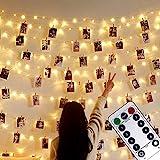Foto clip Lichterketten,USB Oder Batterie Betrieben,10M 100LED Fotolichterkette mit...