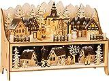 small foot 11790 Lampe Winterdorf mit Pyramide aus Holz, mit LED-Beleuchtung und...