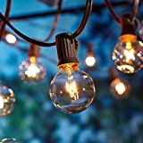 Lichterkette Außen,Lichterkette Gluehbirne Aussen,[Verbesserte Version] OxyLED G40 9...