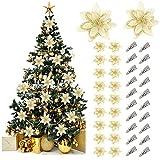 Fansport 20 Stück Weihnachtsblumen Künstlich Blumendekoration,Weihnachtlicher...