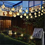 Nasharia LED Solar Lichterkette mit LED Kugel 6.5M 30 LEDs 8 Modi IP65 Wasserdicht...