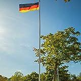 Aluminium-Fahnenmast 620 cm | Flaggenmast | ohne Fahne | Zylindrische Form | mit...