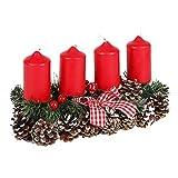 new home Adventsgesteck 35x15cm Weihnachtsgesteck Weihnachtsdeko Adventskranz...