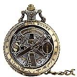 HHTD. Taschenuhr Kreative Klassische Hollow Zwei Schwert Taschenuhr Kann Retro...