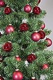 Riffelmacher 69581 Christbaumkugeln für Weihnachten, Baumkugeln aus Glas 31-teilig,...