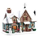Lemax 85356 - Snow Day - Beleuchtung & Animation (Inside Scene) - Beschneite Hütte...