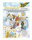 folia 9391 - Adventskalender Weihnachtsdorf, vorgestanzte Schachteln in Form von 24...