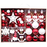 Valery Madelyn Weihnachtskugeln 70 TLG 3-17cm Kunststoff Chrisbaumkugeln...