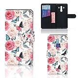 B2Ctelecom Handyhüllen für Huawei Mate 10 Pro Schutzfolie Schmetterling Rosen -...