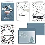 Weihnachtskarten 20er Set mit Umschlägen Urdays – Klappkarten für...