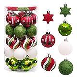 Sunshine smile 35 Stück Weihnachtskugeln,christbaumkugeln Set weihnachtlichen,...